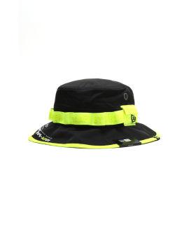 X New Era neon strap bucket hat