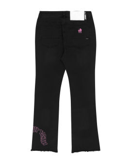 Logo embroidered jeans