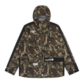 Lightweight panelled camo jacket