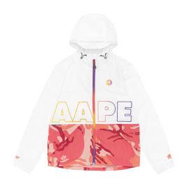 Logo panelled zip jacket