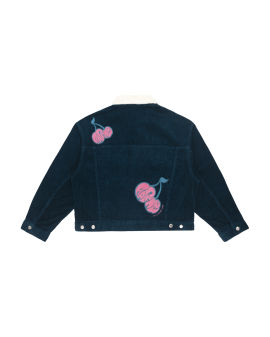 Ape Face embroidered corduroy jacket