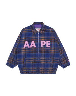 Plaid logo jacket