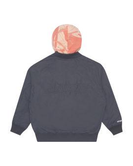 Panelled logo jacket