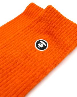 Logo ribbed socks
