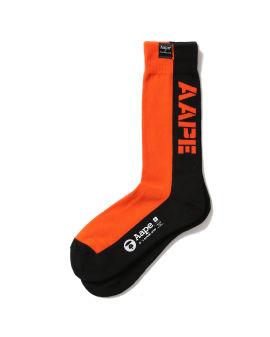 Colour block logo socks