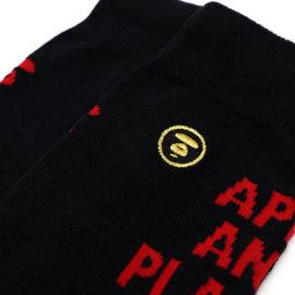 Slogan crew socks