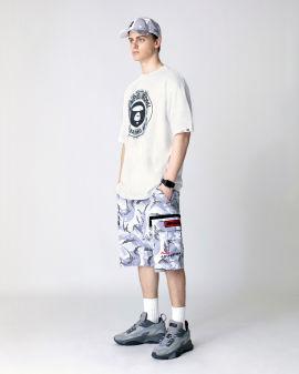 Camo woven cargo shorts