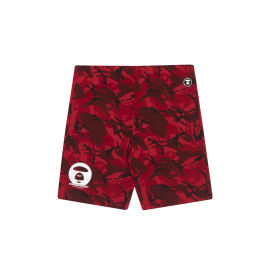 Camo print logo sweat shorts