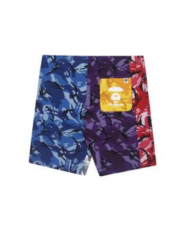 Camo Ape Face emblem shorts