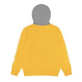 Two-tone zip hoodie