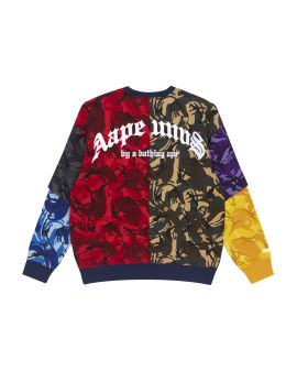 Colour block camo sweatshirt