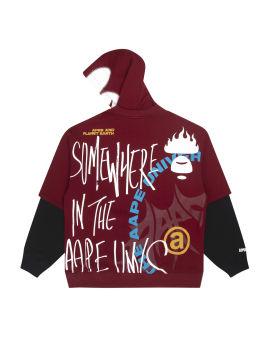 Ape Face layered hoodie