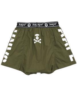 Camo tape logo print boxer