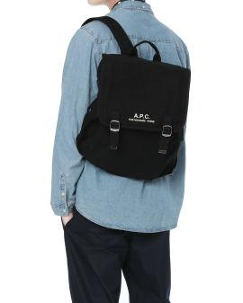 Logo flap-over backpack