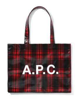 Check logo tote bag