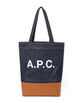 Logo print tote bag