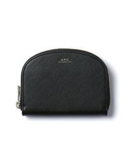 Shell shaped leather wallet