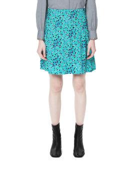Flared floral print skirt