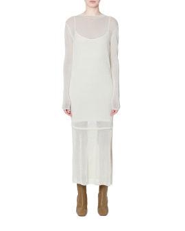 Semi-sheer knit dress