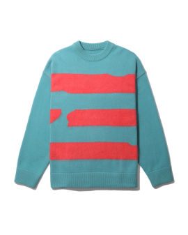 Stripe knitted sweater