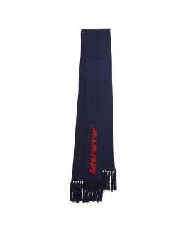 Logo intarsia scarf
