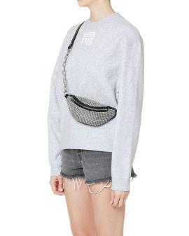 Attica strass-embellished mini fanny pack