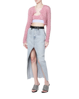Shibori cropped cardigan