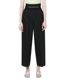 Carrto leg tailored pants