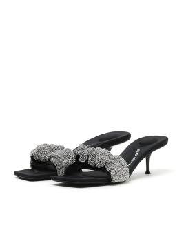 Jessie Crystal Scrunchie sandals