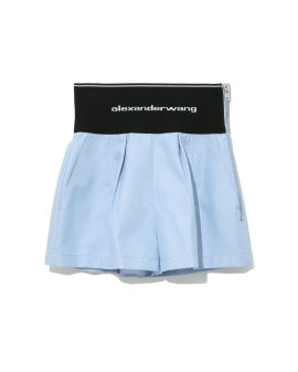 Logo taped shorts