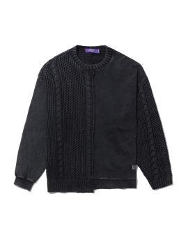 Knit panel sweater