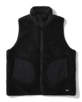 Mismatch fleece vest