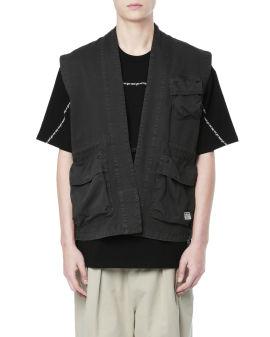 Cotton utility vest coat