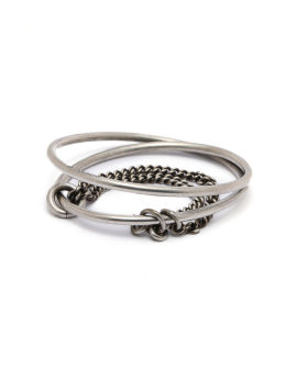 Stacked bangle bracelet