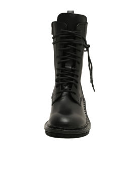 Lace-up leather boots