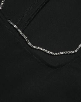 Sleeveless chain collar dress