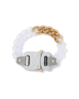 Transparent chain and metal bracelet