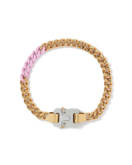 Coloured links buckle necklace