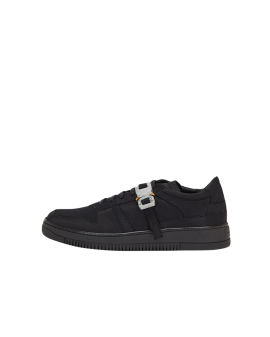 Satin buckle low trainers