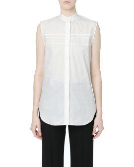 Smock ruched sleeveless blouse
