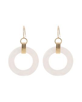 Geometric circle drop earrings