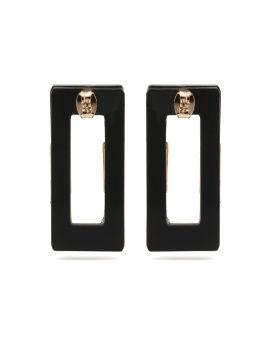 Colour block rectangle earrings