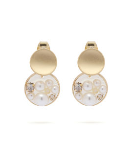 Pearl filled earrings