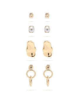 Gold-tone earring set