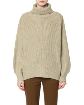 Relaxed knit turtleneck sweater