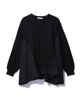 Layered knitted sweatshirt