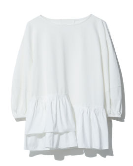 Panelled ruffle top