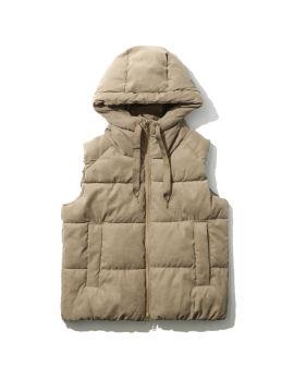 Hooded vest jacket