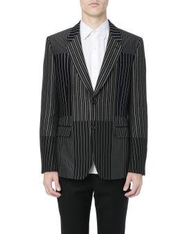 Contrast pinstriped blazer