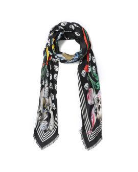Fun fonts biker skull scarf